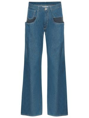 Широкие джинсы mom зеленый Maison Margiela