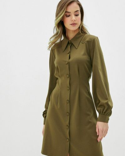 Прямое зеленое платье Ichi