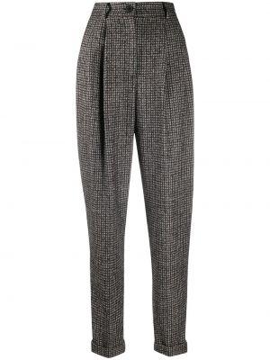 Шерстяные коричневые зауженные брюки Dolce & Gabbana