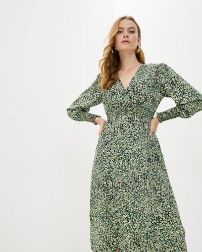 Зеленое платье с запахом Wallis