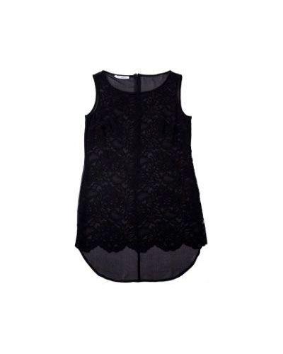 Черная блузка из вискозы Flavio Castellani