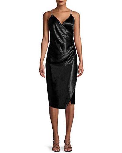 Черное платье на бретелях с V-образным вырезом Bcbgeneration