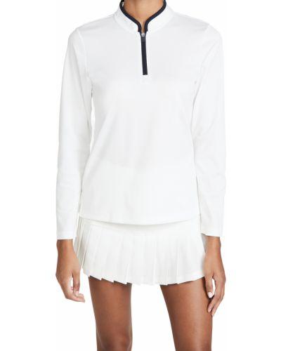Трикотажный белый пуловер с длинными рукавами Tory Sport