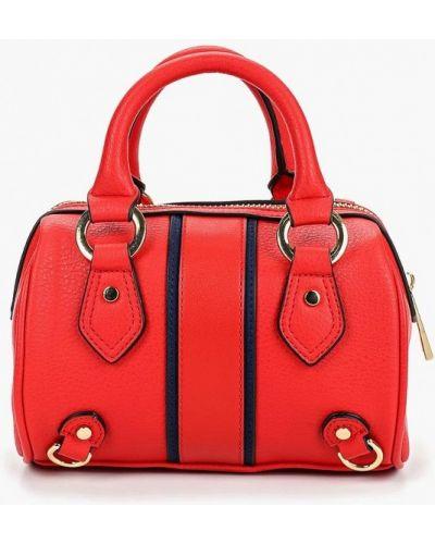 Кожаный сумка с ручками красная Topshop