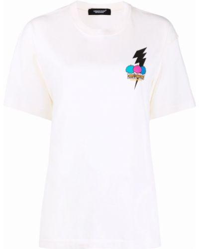 Прямая хлопковая белая футболка Undercover