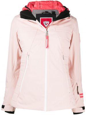 С рукавами розовая длинная куртка с капюшоном Rossignol