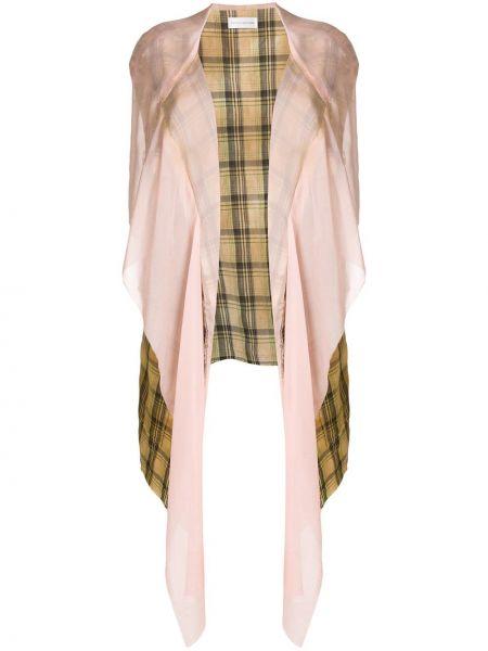Куртка с капюшоном в клетку розовая Faith Connexion