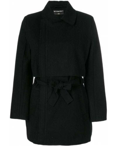 Черное пальто с капюшоном Minimarket