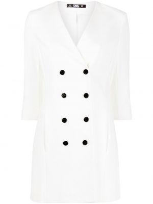 С рукавами белое платье трапеция Karl Lagerfeld