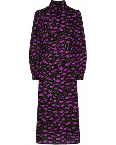 Платье миди джинсовое леопардовое Essentiel Antwerp