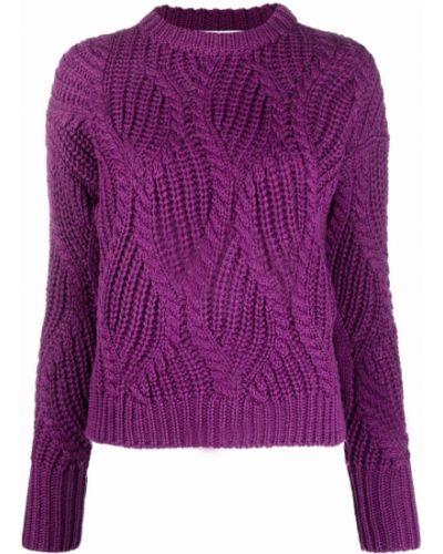 Шерстяной джемпер - фиолетовый Roseanna