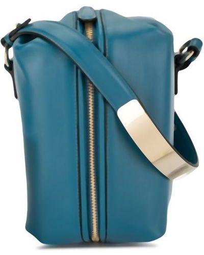Синяя маленькая сумка с пряжкой Anteprima