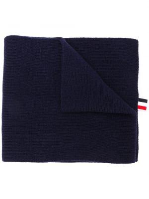 Niebieski szalik wełniany w paski Thom Browne