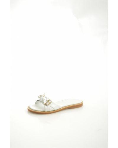 Сабо белые на каблуке Lottini