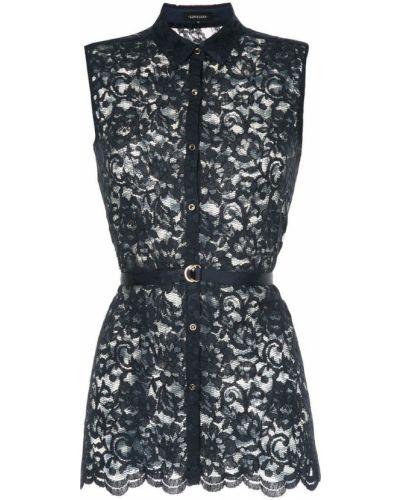 Блузка без рукавов гипюровая с поясом Loveless