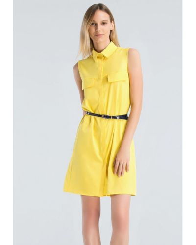 Платье мини весеннее желтый Grass