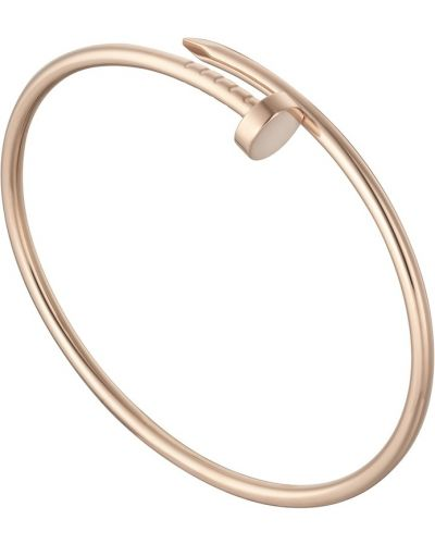 Тонкий домашний розовый золотой браслет Cartier