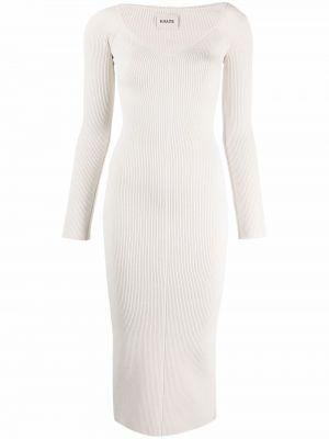 Белое платье макси с длинными рукавами из вискозы Khaite