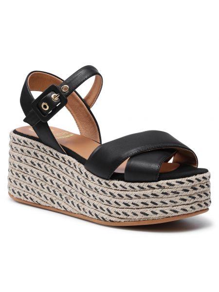 Sandały espadryle - czarne Kanna