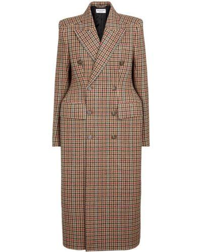 Płaszcz wełniany - brązowy Balenciaga