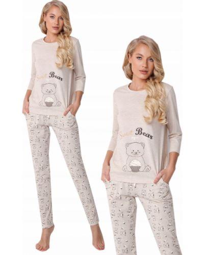 Beżowa piżama bawełniana Aruelle