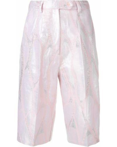 Розовые шорты с карманами на пуговицах Atu Body Couture