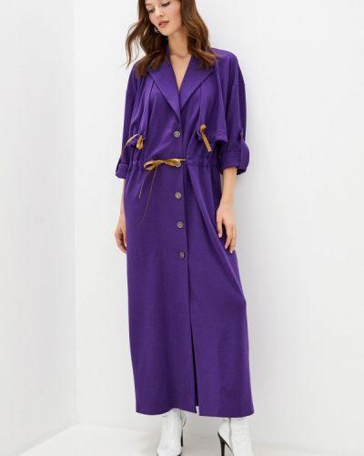 Повседневное фиолетовое платье Adzhedo