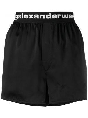 Czarne szorty z jedwabiu Alexander Wang