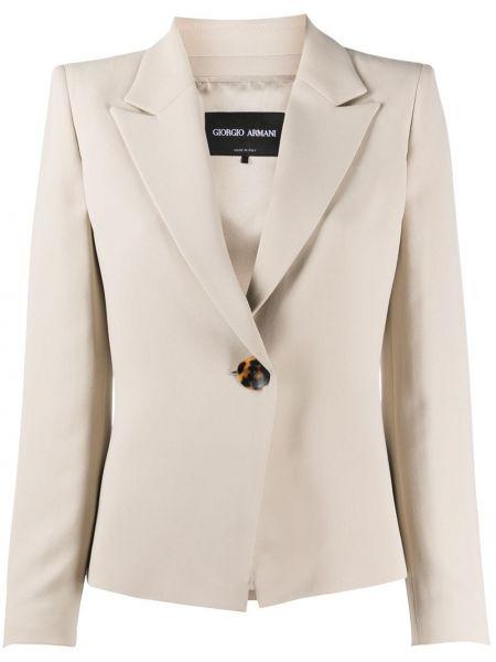 Однобортный пиджак на пуговицах Giorgio Armani
