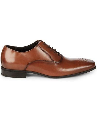 Кожаные оксфорды с перфорацией на шнурках Bruno Magli
