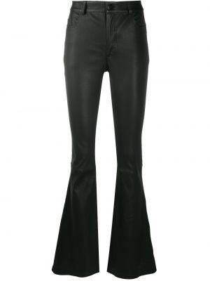 Классические черные расклешенные брюки на молнии Desa 1972