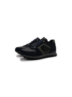 Синие кожаные кроссовки Bogner