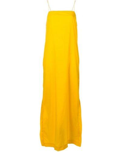 Свободное желтое платье с вырезом Artica Arbox