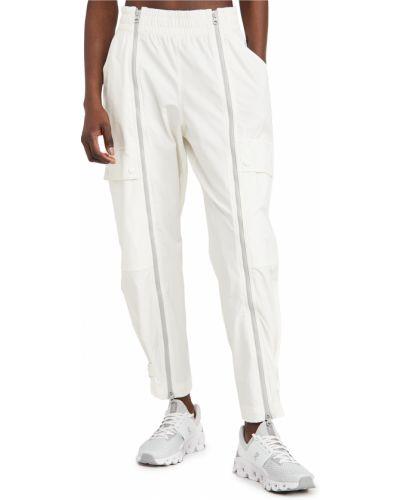 Белые брюки для полных на резинке Adidas By Stella Mccartney