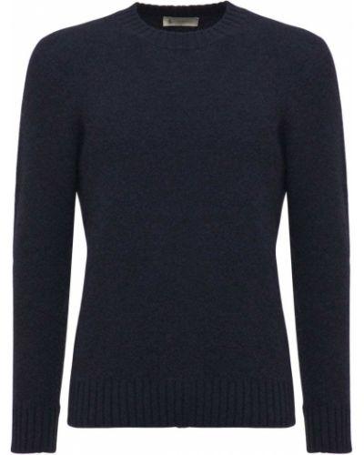 Niebieski z kaszmiru sweter Piacenza Cashmere