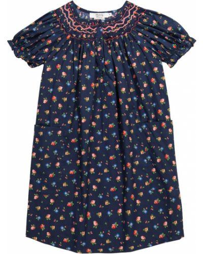 Хлопковое синее платье винтажное Bonpoint