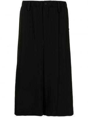 Czarne szorty wełniane Yohji Yamamoto