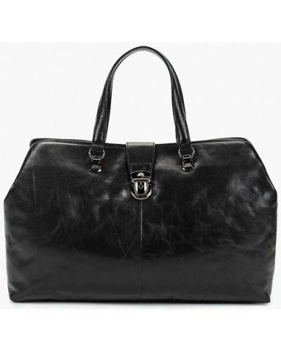 Кожаная дорожная сумка - черная Tony Perotti