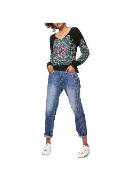 Пуловер с V-образным вырезом тонкий Desigual