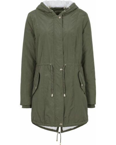 Плюшевая куртка с капюшоном мятная круглая Bonprix