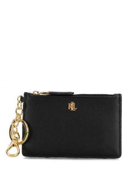 С ремешком черный кожаный кошелек со шлицей из натуральной кожи Lauren Ralph Lauren