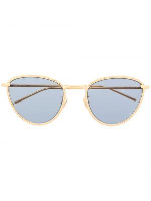 Прямые желтые солнцезащитные очки круглые металлические Boucheron Eyewear