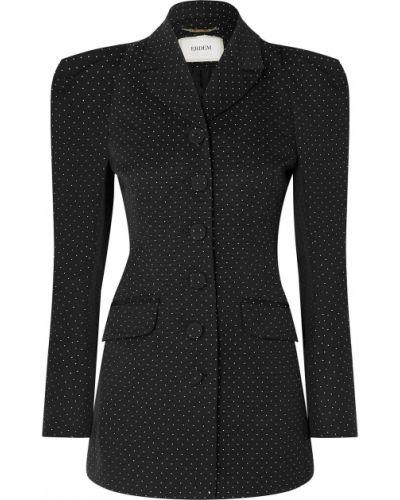 Черный пиджак с карманами жаккардовый Erdem