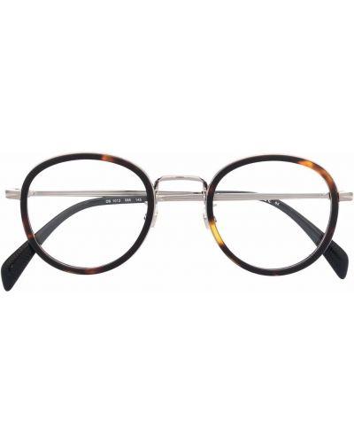 Okulary srebrne - czarne Eyewear By David Beckham