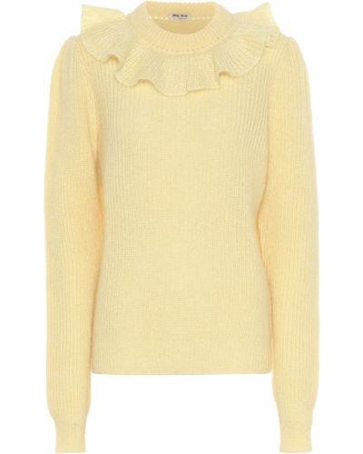Шерстяной свитер - желтый Miu Miu