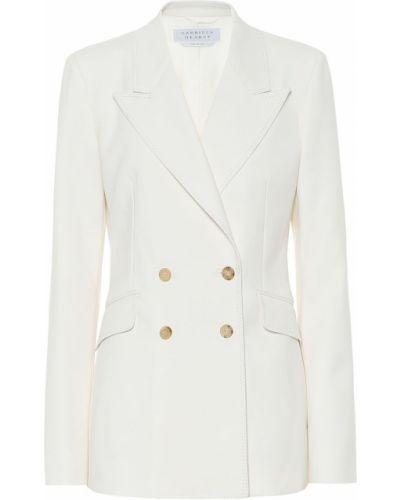 Шерстяной белый пиджак стрейч Gabriela Hearst