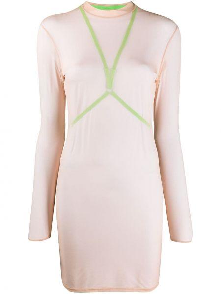 С рукавами платье сетчатое Maison Close