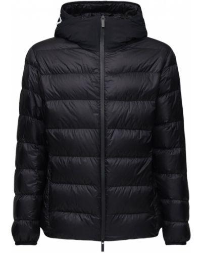Czarna kurtka z kapturem Moncler