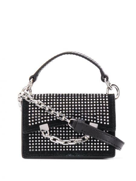 Кожаная черная сумка-тоут с заклепками Karl Lagerfeld