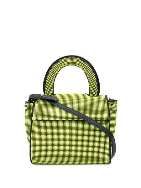 Кожаная желтая сумка-тоут Elena Ghisellini